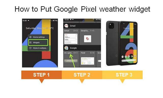 Pixel weather widget