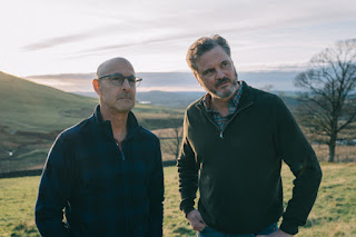 Colin Firth and Stanley Tucci in the Lake District