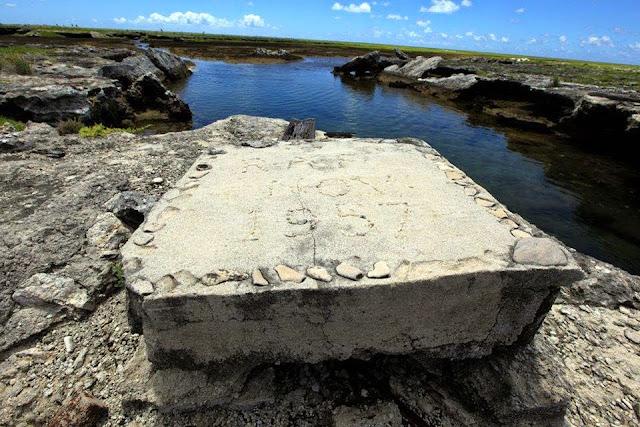 Ruinas en la Isla Malden
