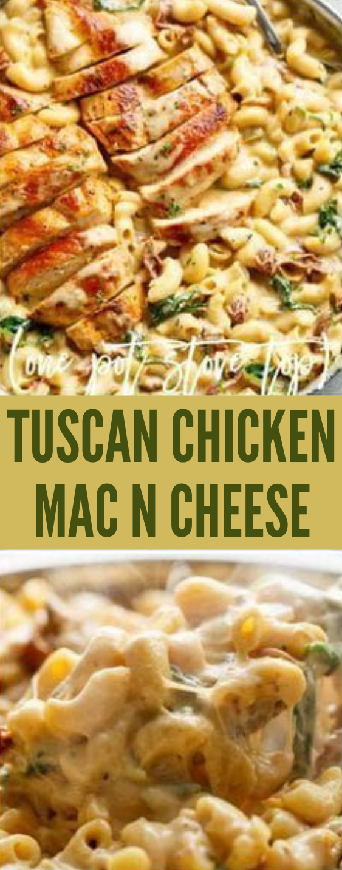 TUSCAN CHICKEN MAC AND CHEESE  #healthy #dinnner #lunch #diet #vegan