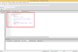 Contoh Program Bahasa C++ Menghitung Luas dan Keliling Lingkaran