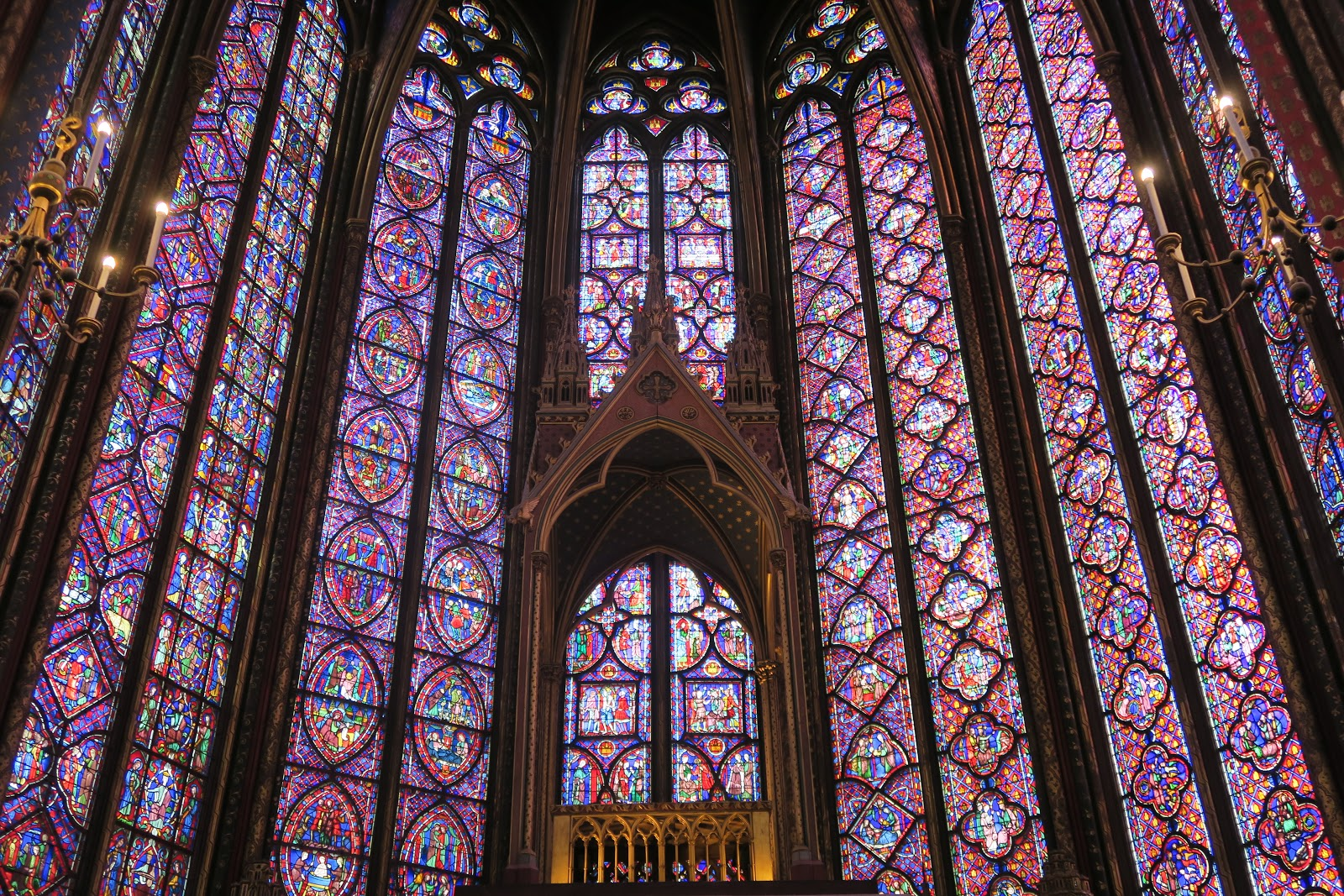 Sainte-Chapelle stained glass windows from our trip to Paris
