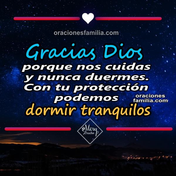 oracion de la noche gracias a Dios por la familia