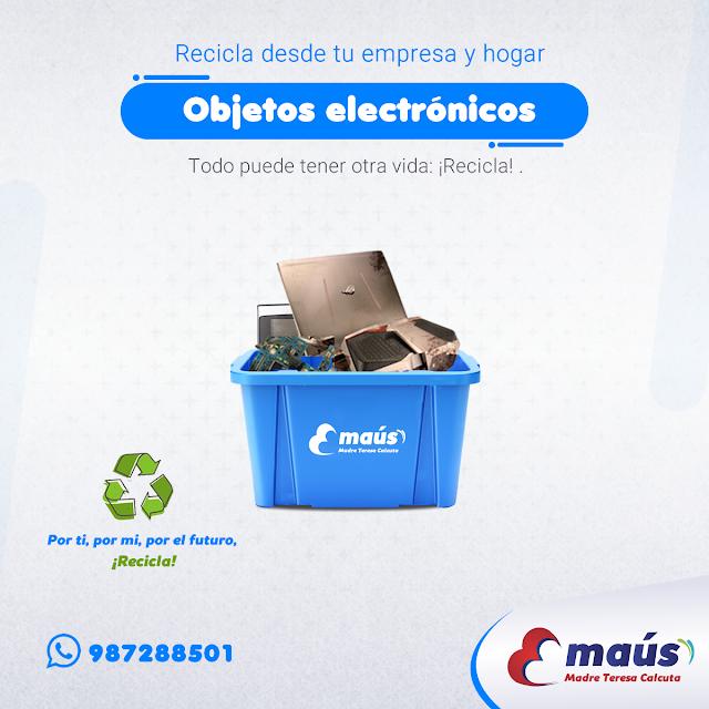 Reciclaje de objetos electrónicos en Lima