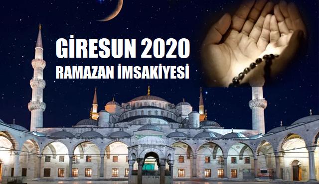 Giresun 2020 Ramazan İmsakiyesi, İftar ve Sahur Vakitleri