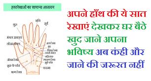 हाथ की मुख्य रेखाएँ | Main Lines Of Hand In Palmistry ( Hindi )