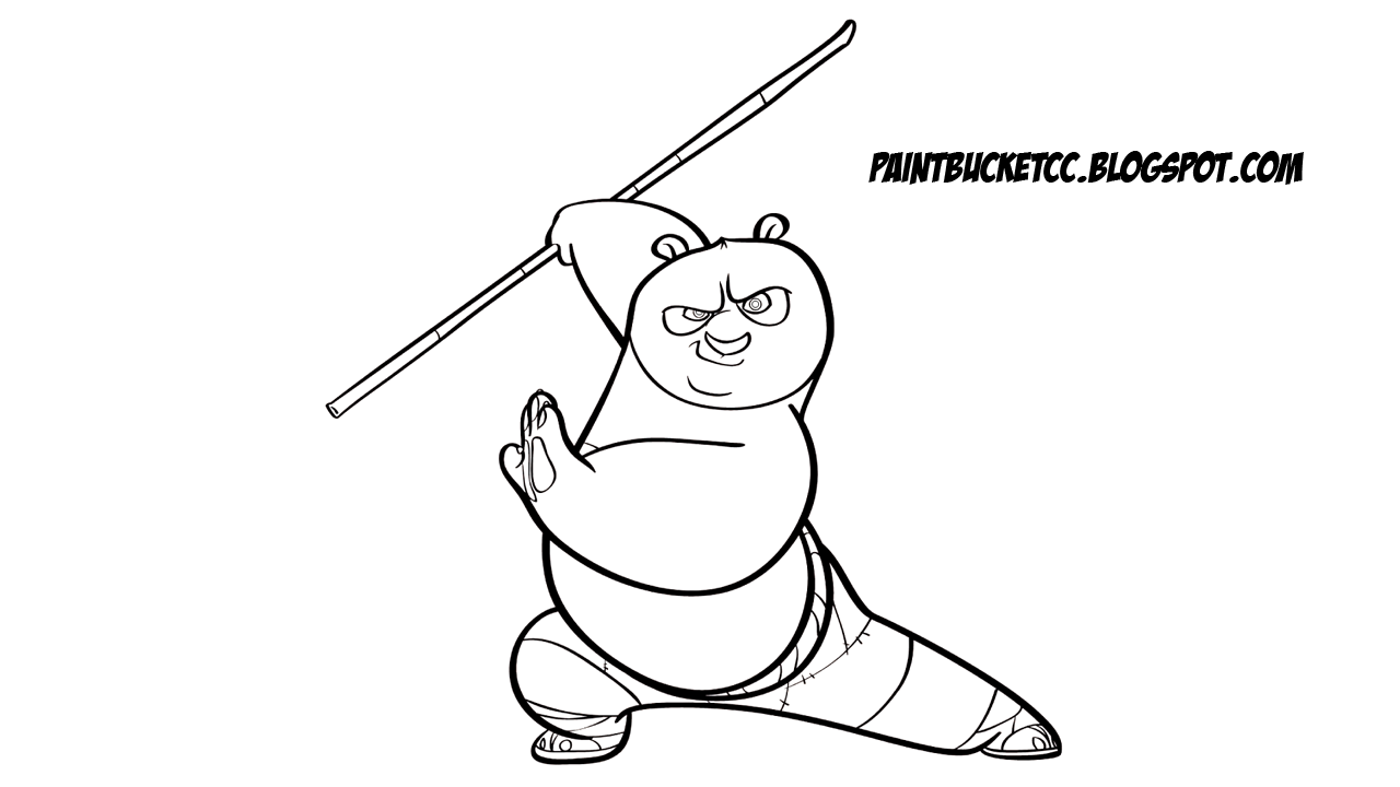 Po From Kung Fu Panda Coloring Page And Clip Art