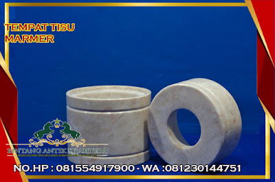 Tempat Tisu Marmer Model Bulat