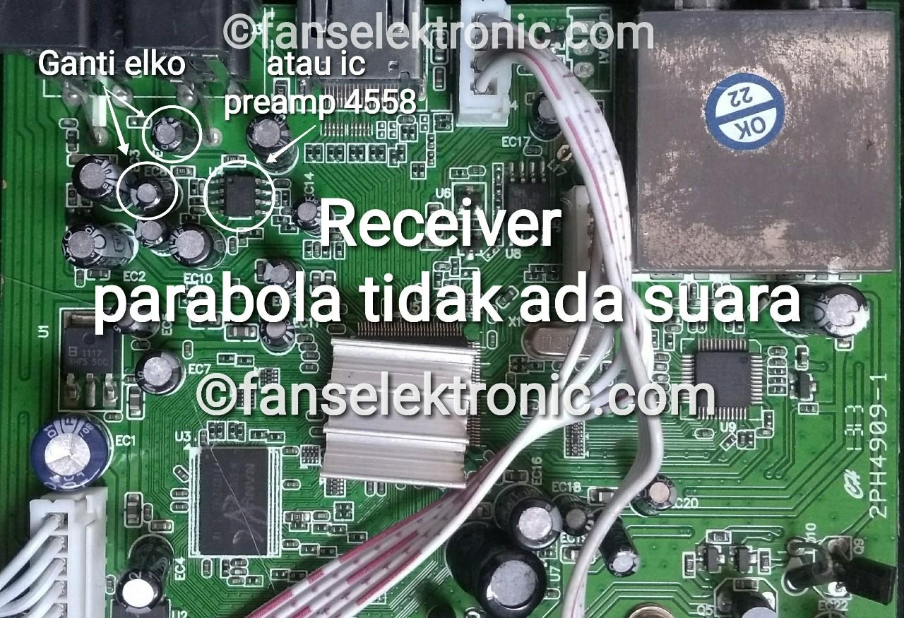 cara mengatasi receiver parabola tidak ada suara