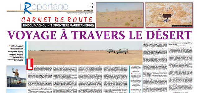 Voyage à travers le Sahara occidental