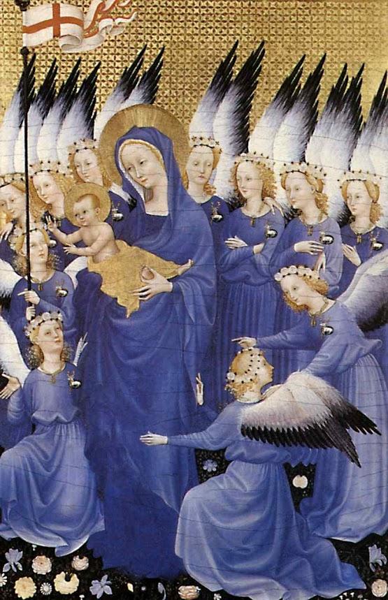 Rainha dos Anjos, Mestre do díptico Wilton