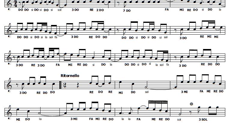 Musica e spartiti gratis per flauto dolce occidentali 39 s karma - Aggiungi un posto a tavola accordi ...