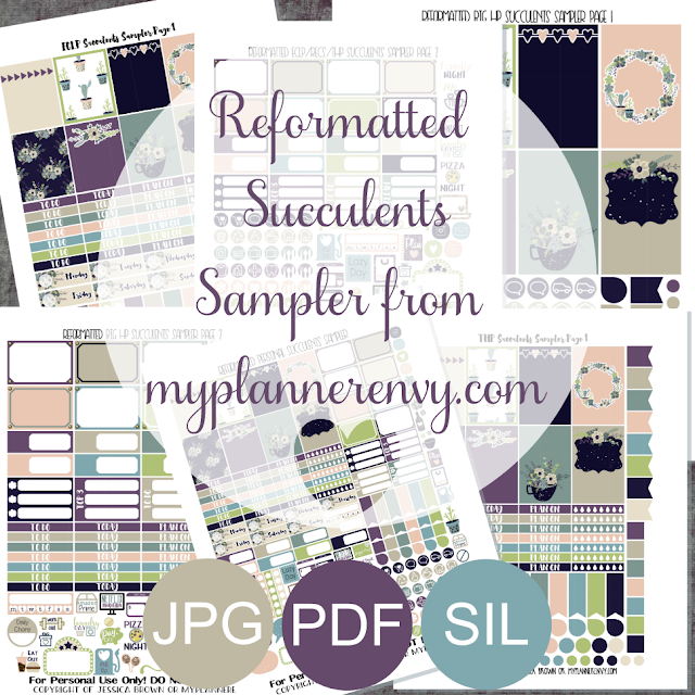 Free Printable Reformatted Succulents Sampler from myplannerenvy.com