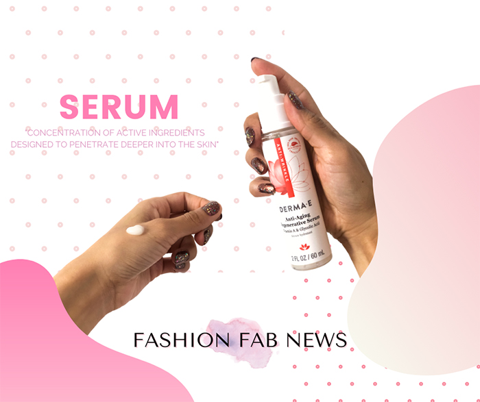 serum graphic anti aging serum derma e pink look