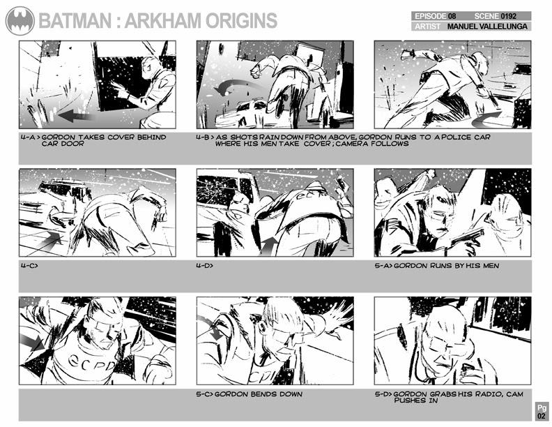 Batman Arkham Origins, Storyboards - EP8_0192, Gordon -- SPOILER