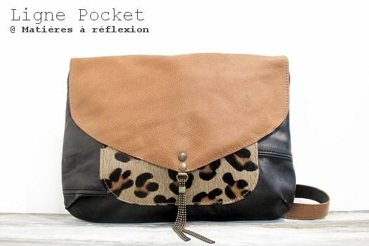 Sac Letter Pocket leopard/caramel