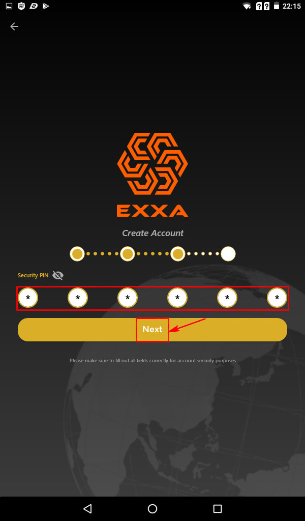 Регистрация в EXXA Network 5