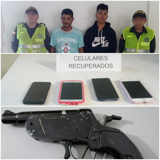 En Villanueva capturan a venezolanos luego de atracar a varias personas