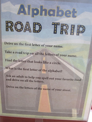 suggestions for using the Roadtrip Alphabet
