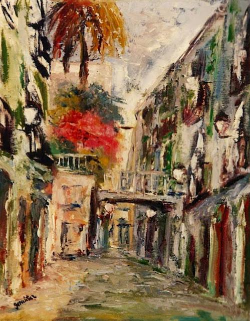 Emiliano García Tur pintura paisaje calles Barcelona