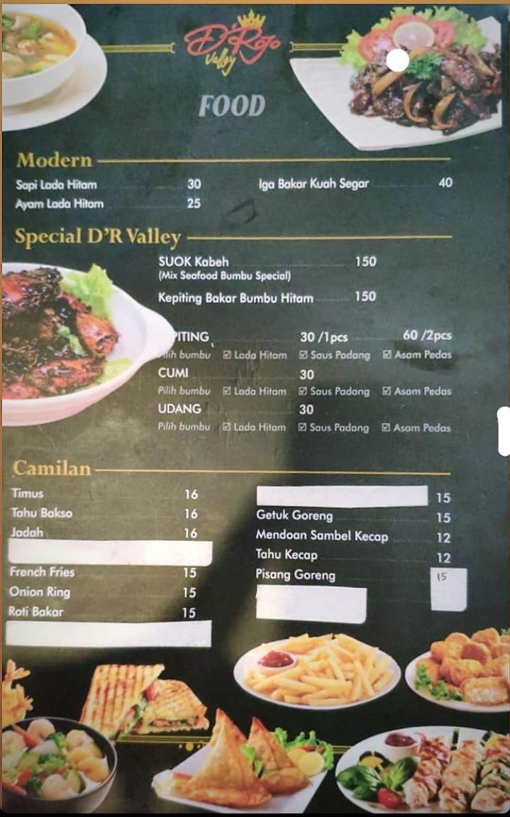 Harga Makanan D'Rojo Valley Karanganyar