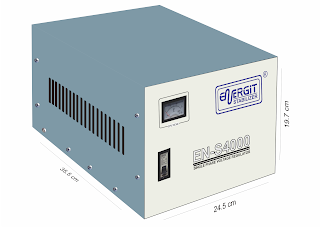 Medidas de estabilizador solido de 4000W 4 kW / 4 kVA - 220vac - Marca Energit