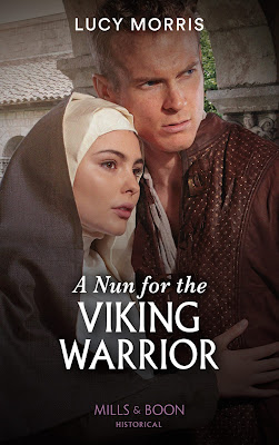 A Nun For The Viking Warrior by Lucy Morris book cover Mills & Boon historical romance