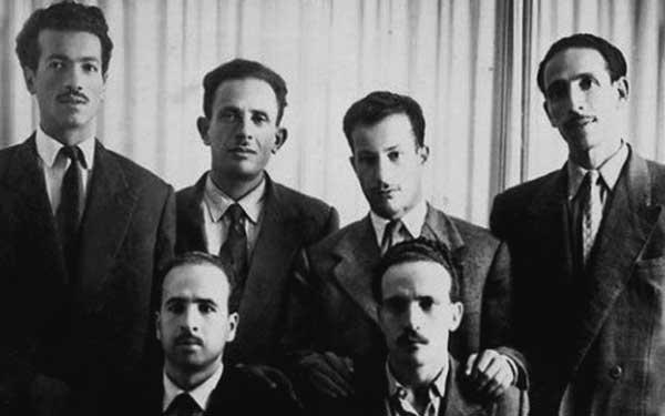 Les six chefs FLN, 1954