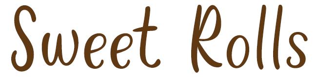 Sweet Rolls Font