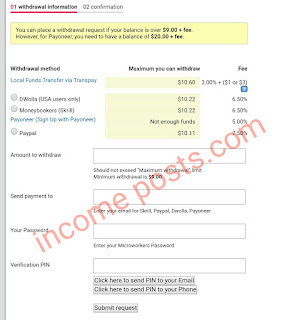 Microworkers review withdrawal form