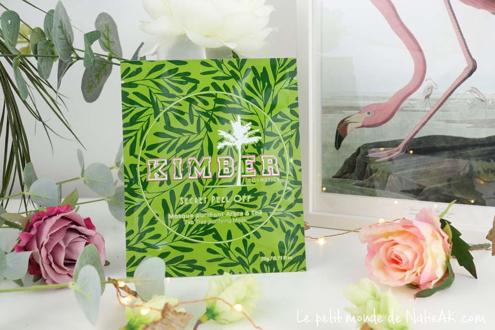 masque purifiant arbre à thé peel off kimber cosmetics