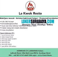 Karir Surabaya di La Kwok Resto Agustus 2020
