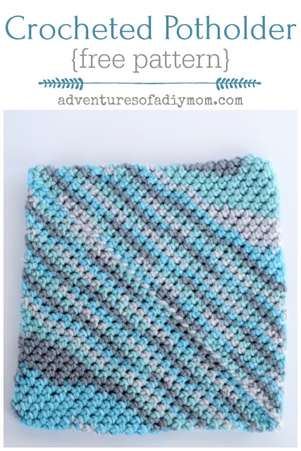 crocheted hotpad