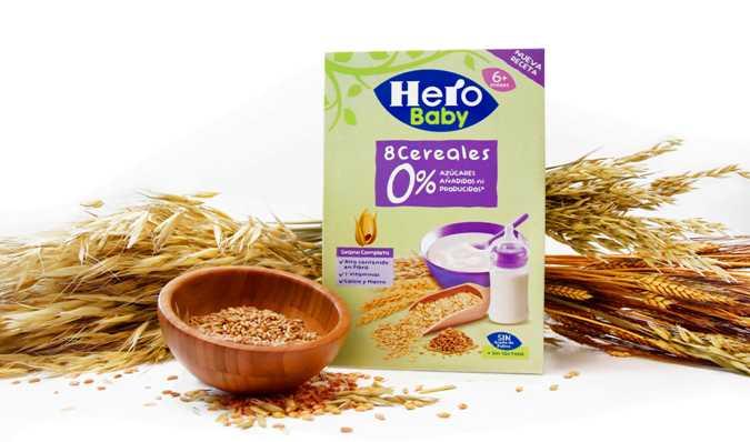 cereales hero baby sin azúcares añadidos ni producidos
