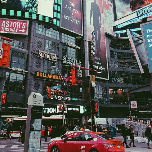 Yonge Dundas Square Toronto Ontario