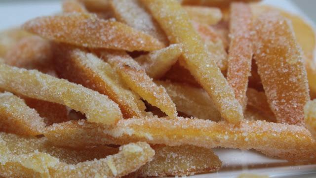 Receta Naranja Escarchada o Confitada para los dulces
