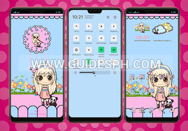 Oppo Theme: Girly Panda Theme