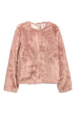 pink faux fur jacket/coat