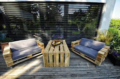 Furniture Made With Pallets, Ideal for Terrace