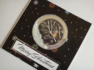 Woodland Christmas Hand Made Shaker Card