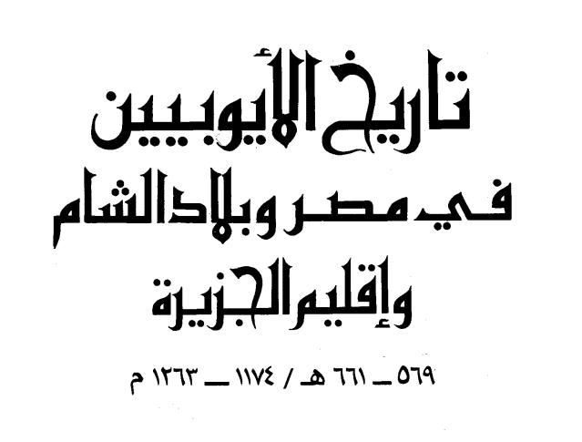 كتاب تاريخ الأيوبيين في مصر وبلاد الشام وإقليم الجزيرة للدكتور محمد سهيل طقوش pdf