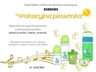 http://mamadoszescianu.blogspot.com/2017/07/konkurs-wakacyjna-piosenka-z-canpol.html