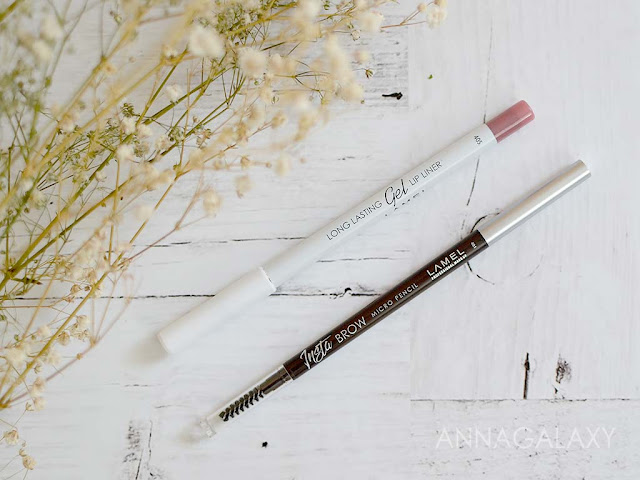 Lamel карандаш для бровей Insta Brow Micro pencil 401, карандаш для губ long lasting gel lip liner 405 отзыв