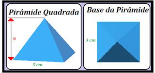 como calcular a área da pirâmide