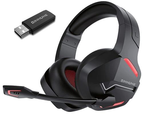 BINNUNE PS4 Wireless Gaming Headset with Microphone