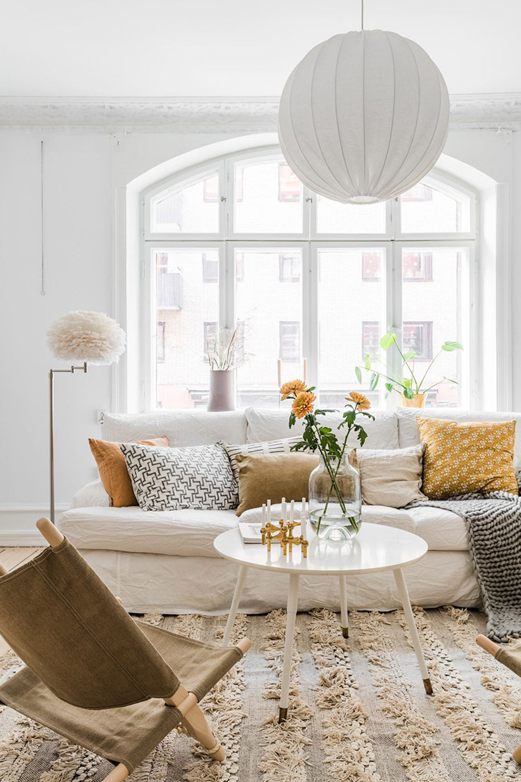 A Beautiful Swedish Home With Touches of Sunny Yellow (& Soft Pinks and Browns)