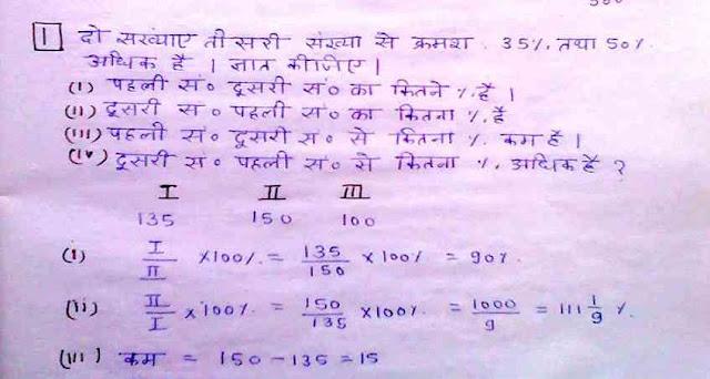 Percentage Handwritten Notes in Hindi by Ankur Yadav PDF Download