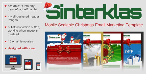 Sinterklas – Christmas Mobile Scalable HTML Email