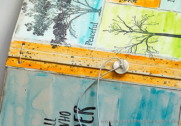 Layers of ink - Tree Sketchbook Journal Tutorial by Anna-Karin with the Eileen Hull Sizzix Journal die.
