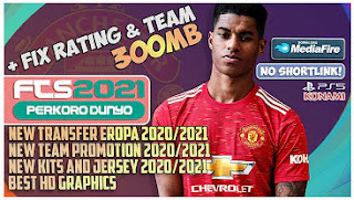 Download FTS 21 Final Version Special Marcus Rashford Manchester United & New Update Kits 2021